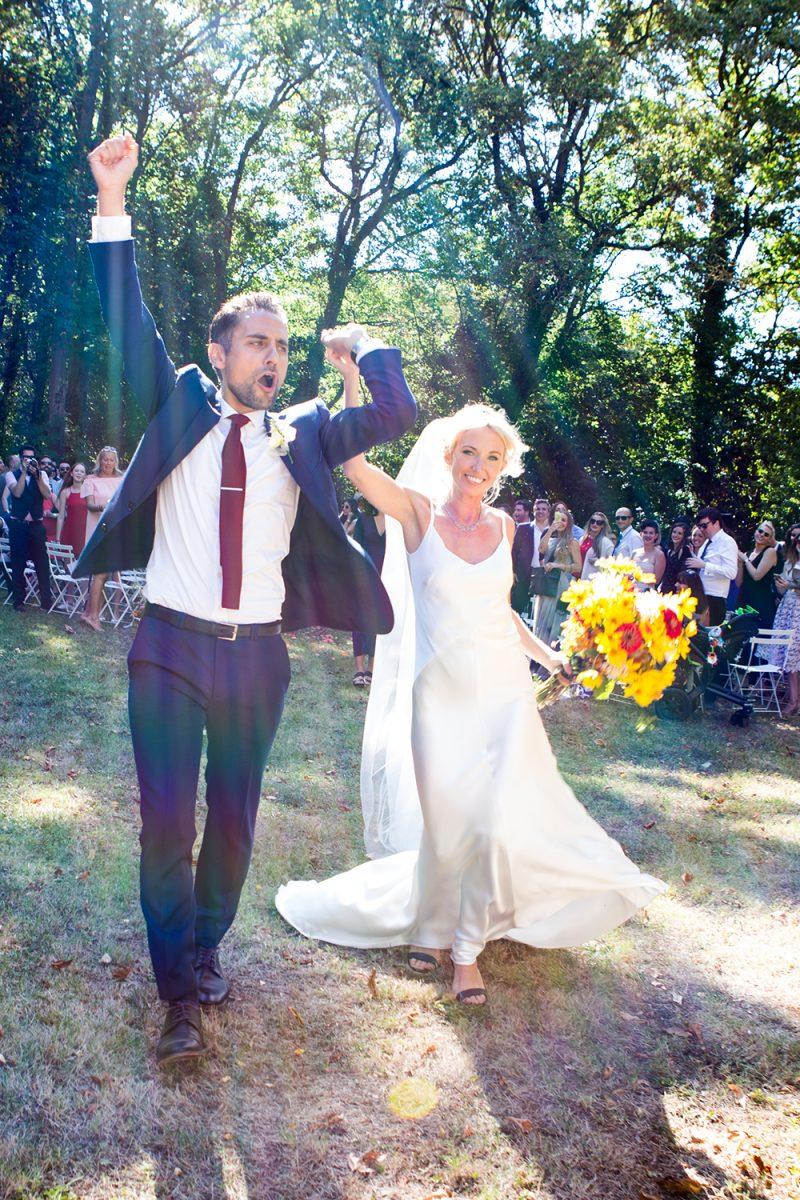 Célébration du mariage dans le parc / Just married, wedding ceremony in the park