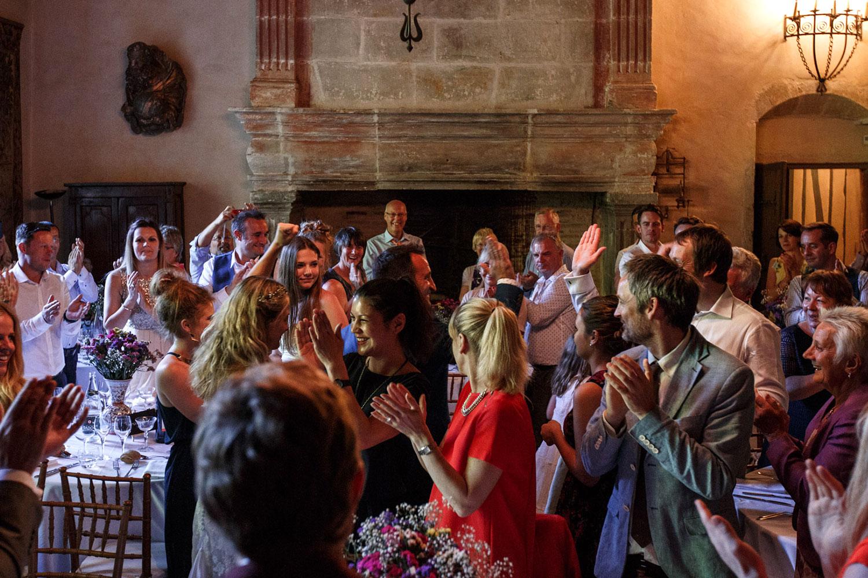 Réception de mariage dans la salle des chevaliers / Wedding reception in knights hall