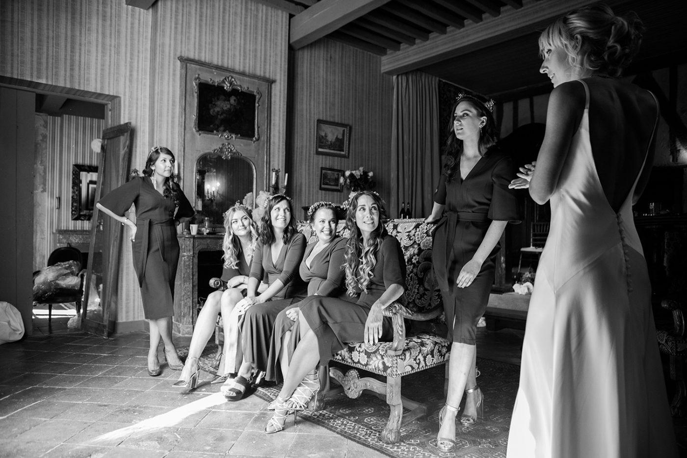 Demoiselles d'honneur et mariée / Bridesmaids and bride