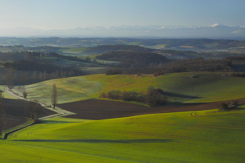 les collines du Lauragais / Rolling hills of the Lauragais