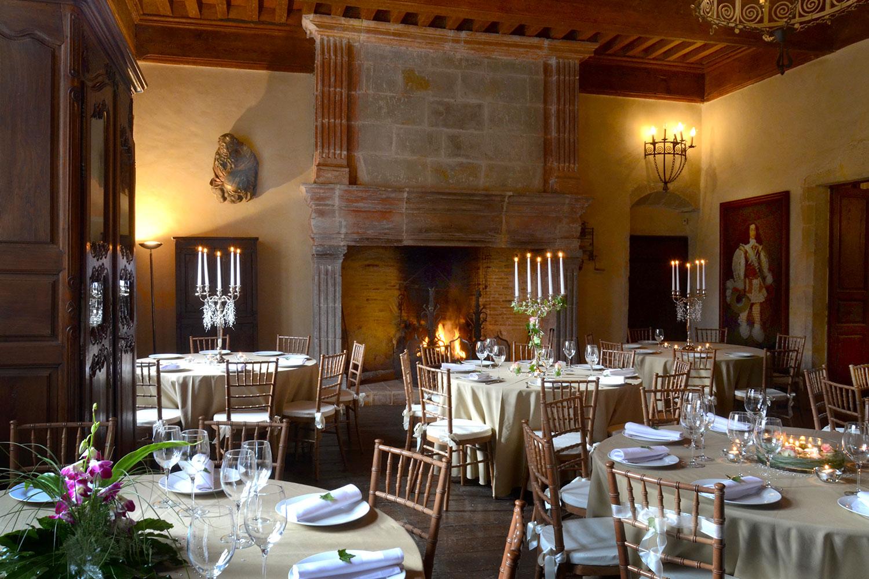 Reception dans la salle des Chevaliers / Reception in the Knights'Hall