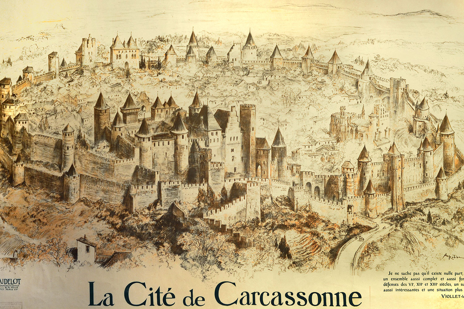 ancienne carte de Carcassonne / Old map of Carcassonne