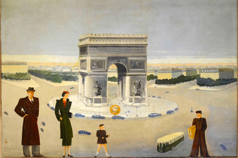 Painting in Parisian bedroom / Tableau dans la chambre parisienne