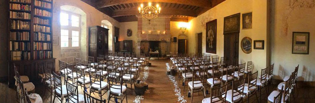Wedding reception in Knights Hall / Cérémonie de mariage dans la salle des Chevaliers